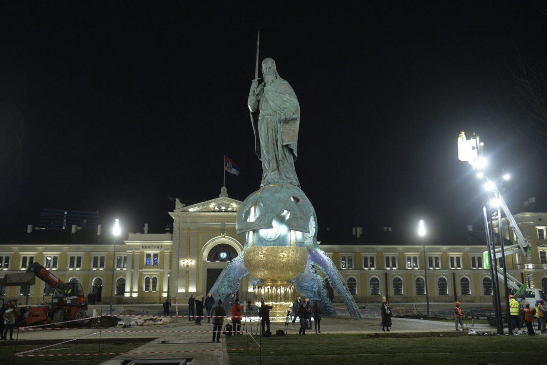Danas svečano otkrivanje spomenika Stefanu Nemanji: Prisustvuje predsednik Vučić