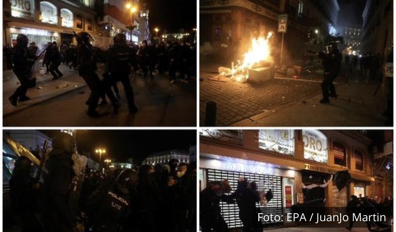 HAOS NA ULICAMA MADRIDA: Tuča policije i demonstranata koji su besni zbog hapšenja repera Pabla Heselja! (FOTO, VIDEO)