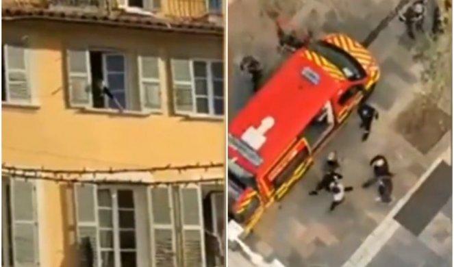 OTKRIVENI DETALJI HORORA U FRANCUSKOJ! Uhapšen muškarac koji je kroz prozor bacio kutiju sa ODSEČENOM GLAVOM! /VIDEO/