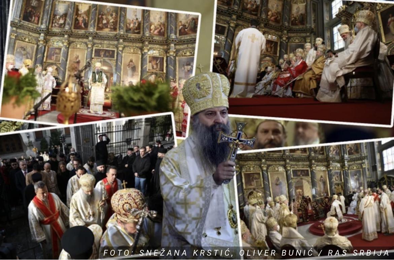 """(UŽIVO) Patrijarh Porfirije i zvanično USTOLIČEN, Sabornom crkvom odzvanja: """"DOSTOJAN!"""" (FOTO/VIDEO)"""