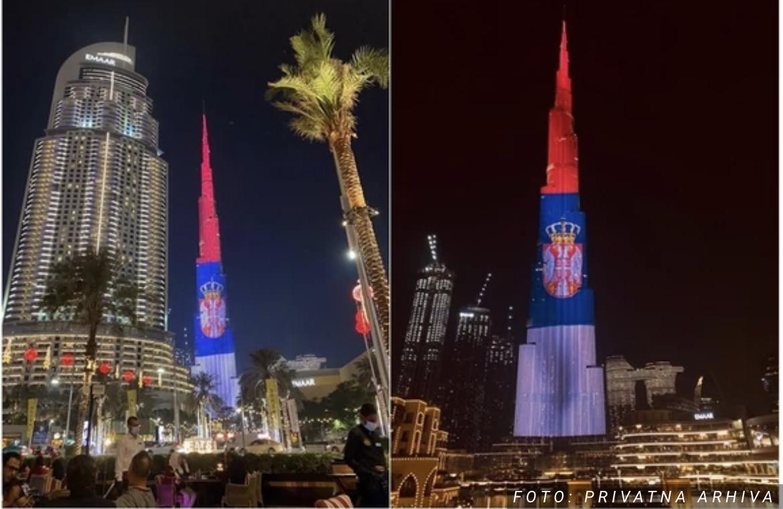 DUBAI U BOJAMA SRBIJE Emirati odali počast našoj zemlji povodom Dana državnosti