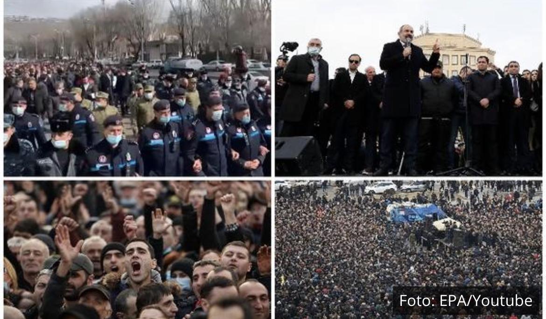 NAPETO U JERMENIJI: Uključio se i Putin, opozicija diže šatore ispred Vlade, oglasili se premijer i predsednik (VIDEO)