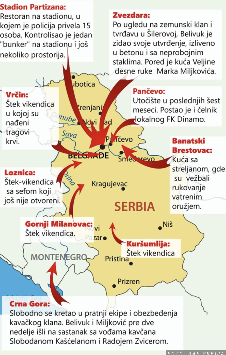 TAJNA SKROVIŠTA VELJE NEVOLJE Belivuk imao luksuzne kuće i stanove po Beogradu i Pančevu, i skrivene štekove u kojima je SVIREPO MUČIO I SPALJIVAO LJUDE