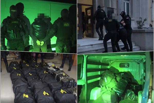PRVO SU MU PREPREČILI PUT, A ONDA ISTRČALI SA DUGIM CEVIMA: Pogledajte hapšenje muškarca koji je prevozio 270 kg marihuane (VIDEO)