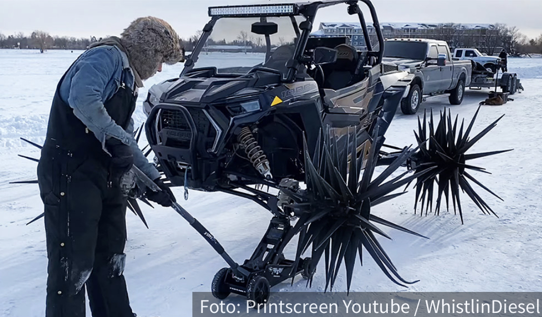Pravo iz horor filmova: Nabudženi Polaris u snežnoj akciji (VIDEO)