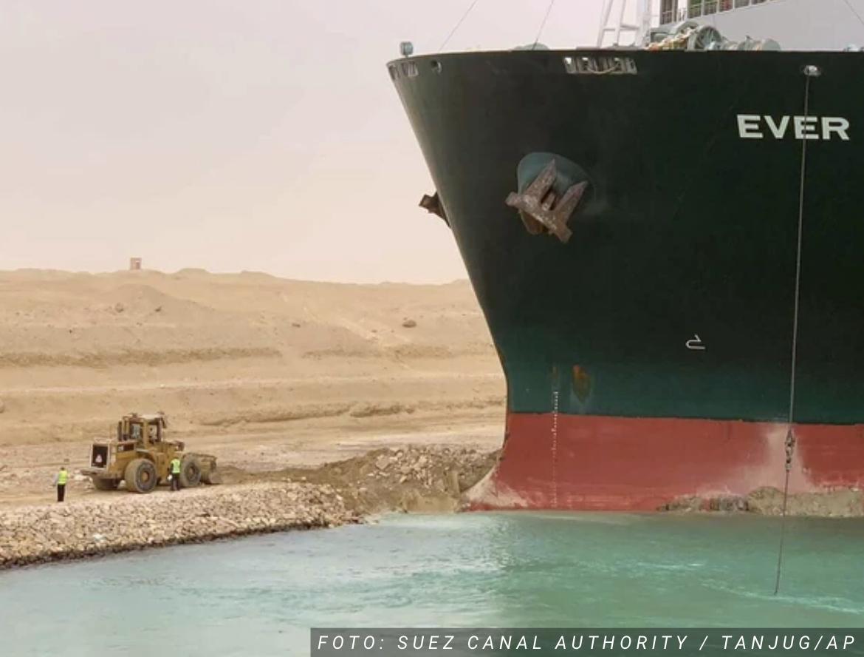 """OSLOBOĐEN """"EVER GIVEN"""" Pokrenuo se brod koji je blokirao Suecki kanal, ali saobraćaj još nije uspostavljen"""