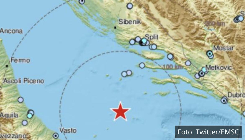 NEMA MIRA NA JADRANU: Južno od Visa zabeleženo 10 potresa!
