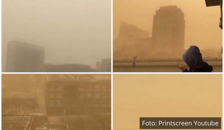 PEŠČANA OLUJA IZ PUSTINJE GOBI PARALISALA PEKING: Otkazani letovi, soliteri u oblacima peska! Ugroženo 14 provincija