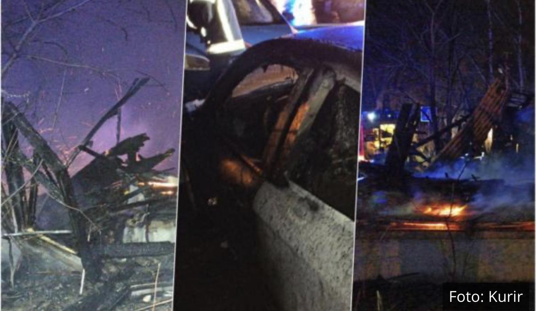 SAVLADANA VATRENA STIHIJA NA KARABURMI: Izgoreli baraka i automobil, vatrogasci sprečili veću katastrofu (VIDEO)