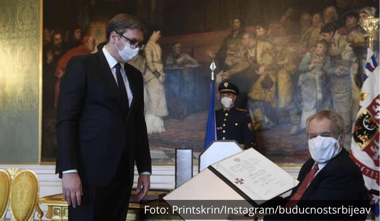 IZNENAĐUJUĆI PODATAK: Vučić je dobio Orden belog lava od Zemana, ali nije jedini Srbin kome je uručeno najveće PRIZNANJE ČEŠKE