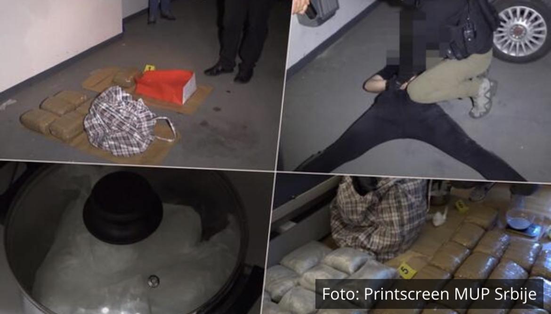 DRAMATIČAN SNIMAK HAPŠENJA U FILMSKOM GRADU: Pogledajte kako policija uleće u podzemnu garažu ZAPLENJENO 45 KG MARIHUANE (VIDEO)