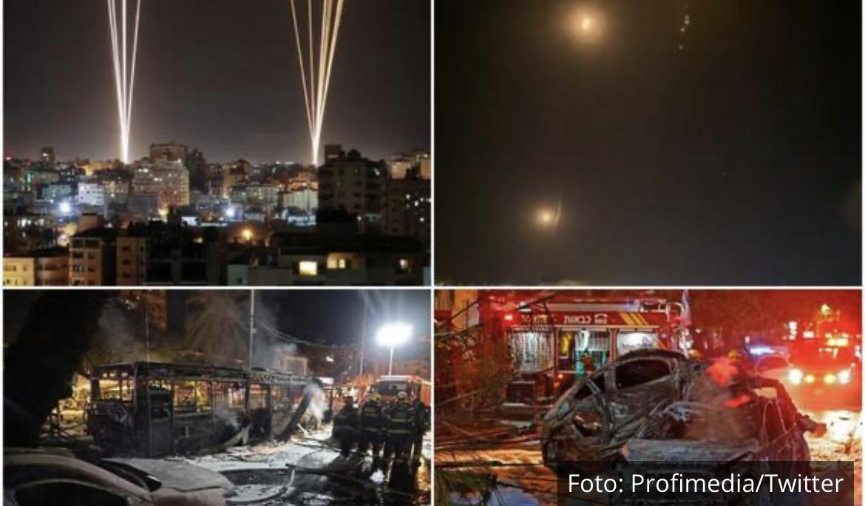 UŽIVO HAMAS ZASUO TEL AVIV SA 130 RAKETA, IMA MRTVIH: Osveta za srušeni soliter od 13 spratova u Gazi, Izrael uzvraća! VIDEO