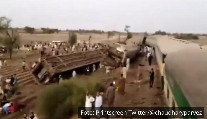 VELIKA NESREĆA U PAKISTANU: U sudaru dva brza voza poginulo najmanje 35 ljudi VIDEO