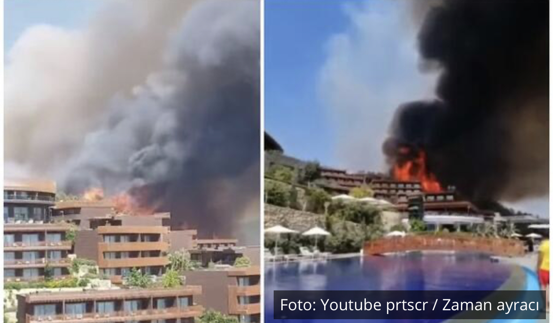 VATRA U BODRUMU PRIMORALA GOSTE NA EVAKUACIJU: Oko 100 Rusa napustilo luksuzni hotel, od gustog dima se nebo jedva vidi! VIDEO