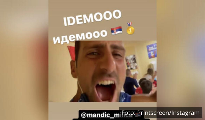 LUDNICA U OLIMPIJSKOM SELU! Novak i olimpijci Srbije su OVAKO proslavili ZLATO Milice Mandić (VIDEO)
