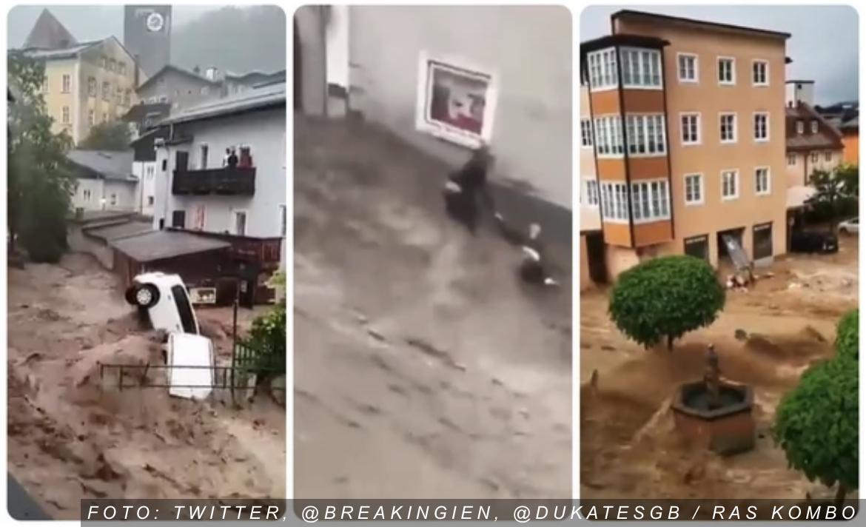 BUJICE NOSE LJUDE I AUTOMOBILE Dramatično nevreme zahvatilo i Austriju, delovi zemlje POTOPLJENI (VIDEO)