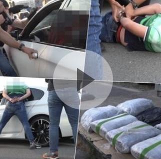 POGLEDAJTE FILMSKU AKCIJU HAPŠENJA U BG: Policajci zaustavili auto, vozaču vikali OTVORI VRATA, evo šta su mu našli u vozilu VIDEO