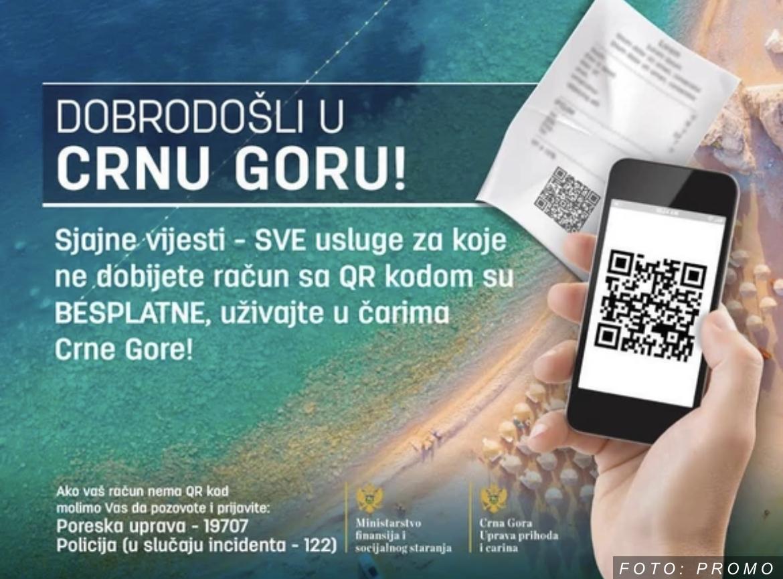Spajić: Kada dođete u Crnu Goru račun bez QR koda niste u obavezi da platite!
