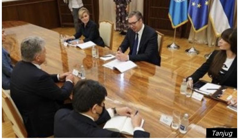 Predsednik Vučić sa pomoćnikom generalnog sekretara UN za Evropu, Centralnu Aziju i Ameriku