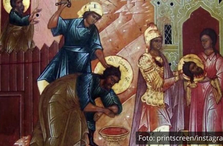 VELIKI PRAZNIK I CRVENO SLOVO: Na današnji dan posečen je Sveti Jovan Krstitelj, veruje se da danas ovo nikako ne valja jesti