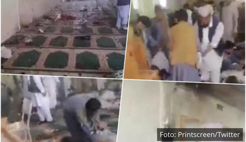 UZNEMIRUJUĆI SNIMCI IZ DŽAMIJE U KANDAHARU Mrtvi leže na zemlji, oko njih krv, srča i lom VIDEO