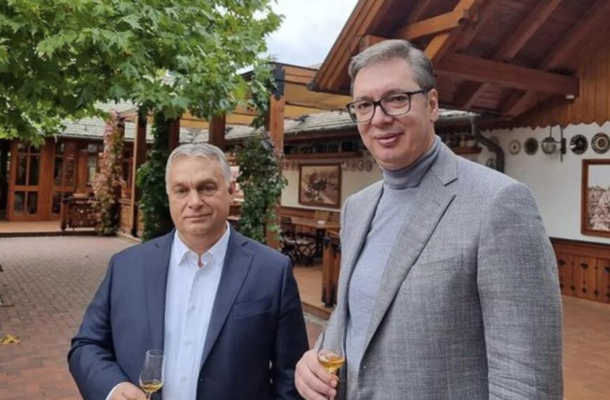 """""""Živeli, dragi prijatelju! Za sve zajedničke projekte"""": Vučić objavio FOTOGRAFIJU sa Orbanom (FOTO)"""