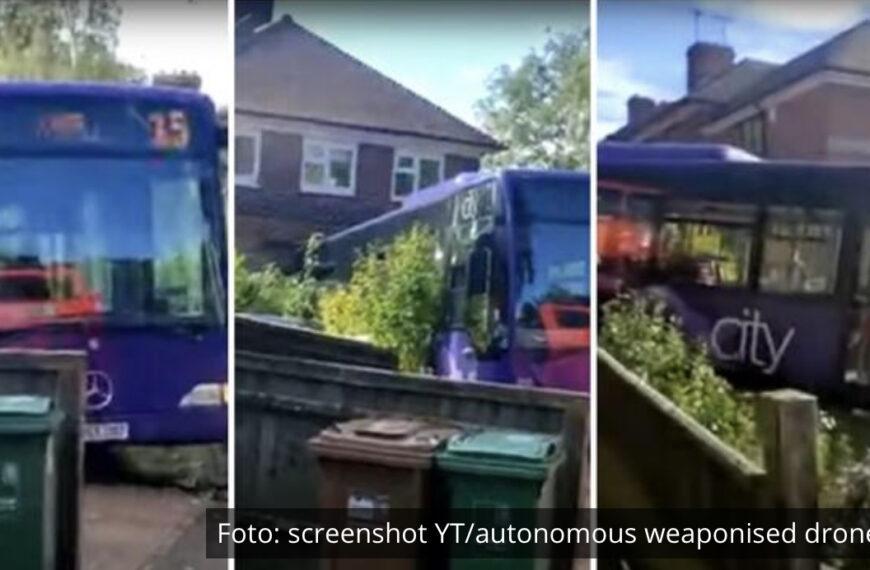 ZASTRAŠUJUĆI SNIMAK! Autobus se zakucao u kuću, dok je domaćin sedeo za trpezarijskim stolom VIDEO