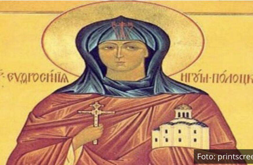 USPELA I ROĐENOG OCA DA PREVARI DA JE MUŠKO! Srpska pravoslavna crkva i njeni vernici danas slave praznik Svete Efrosinije