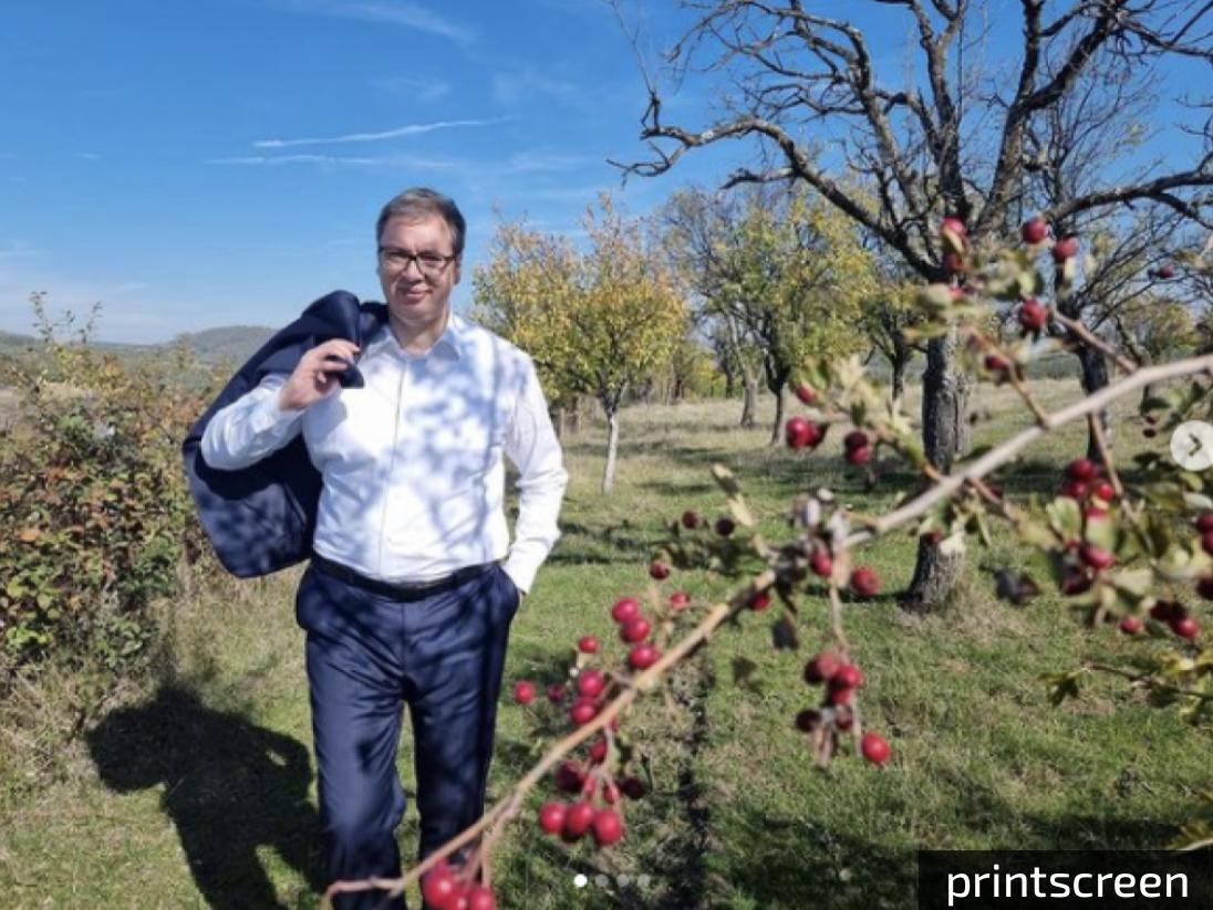 Vučić objavio fotografiju iz srca Šumadije: Srbi hrle u Beč, Pariz i Njujork, ALI LEPOTA SRBIJE OSTAĆE VEČNA!
